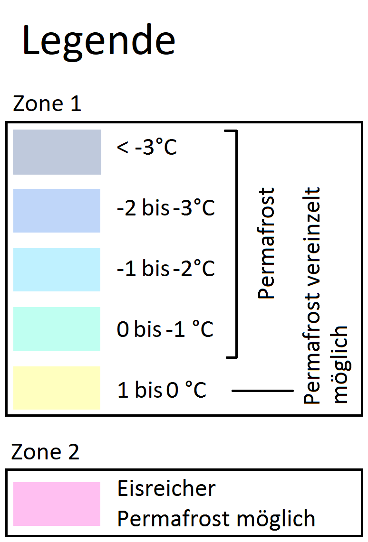Permafrost- und Bodeneiskarte - SLF